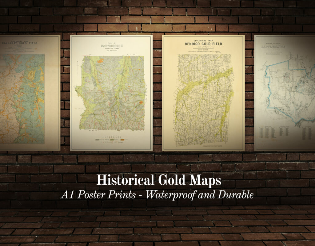 All maps historical goldfields prints