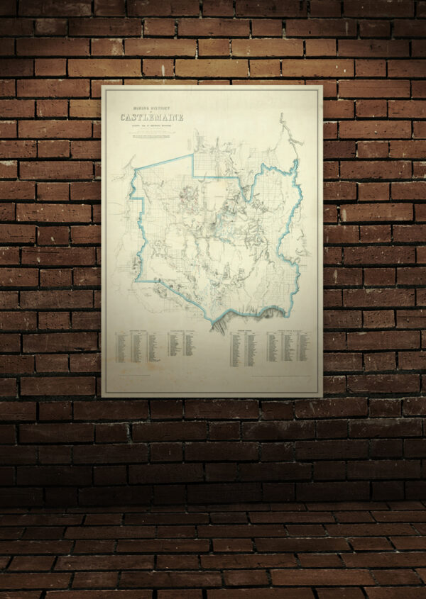 Castlemaine historical gold map A1 poster print