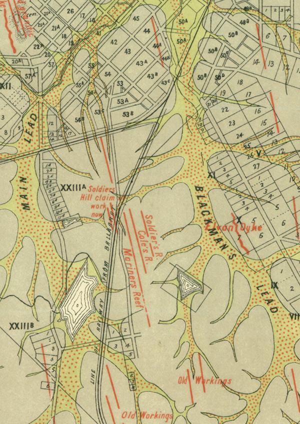 Maryborough historical gold map A1 poster print