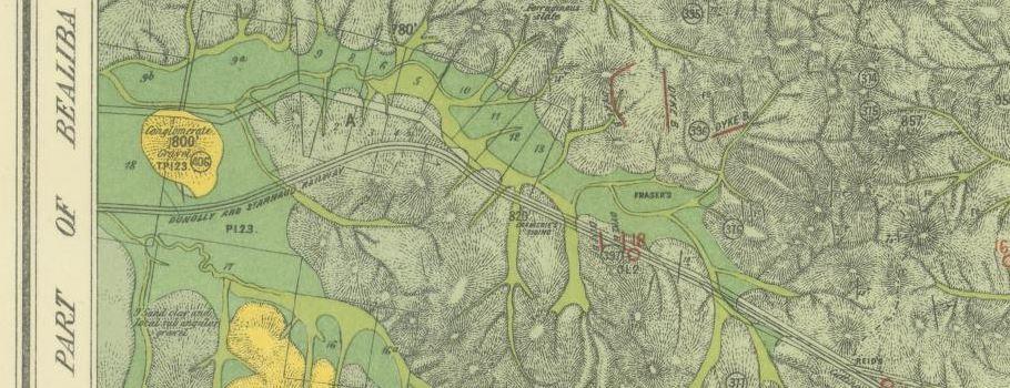 Bealiba gold map