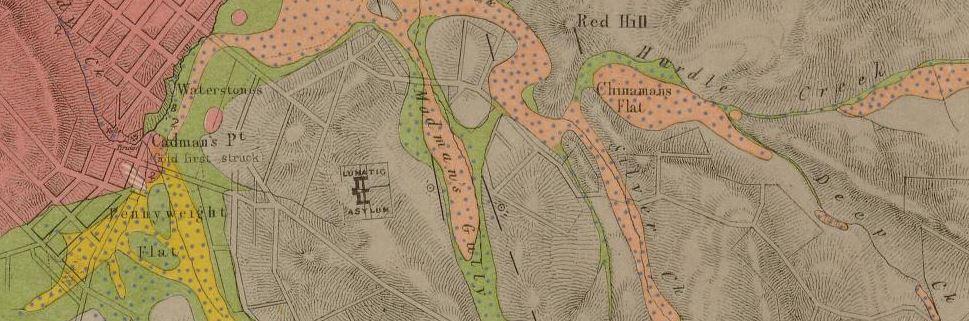 Beechworth gold map