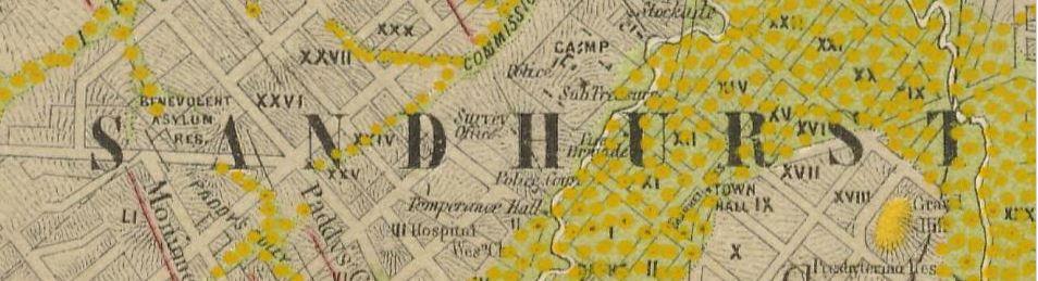 Bendigo gold map
