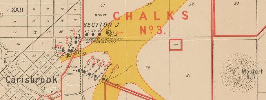 Carisbrook gold map