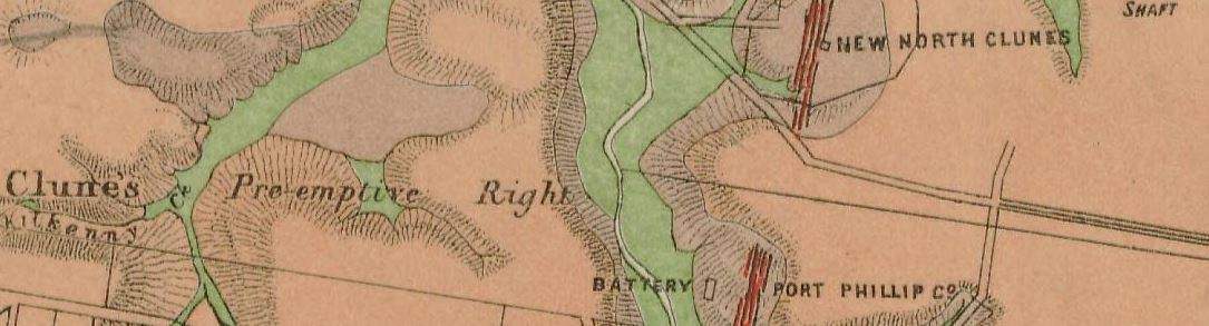 Clunes gold map