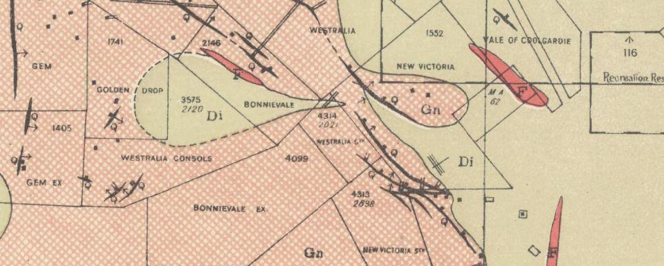 Coolgardie gold map