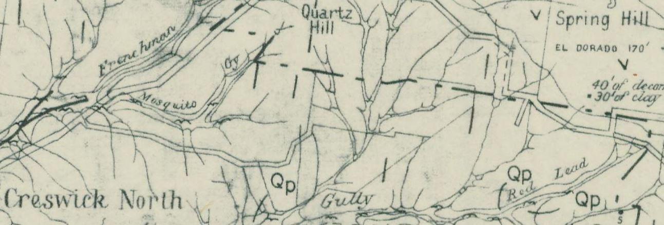 Creswick gold map