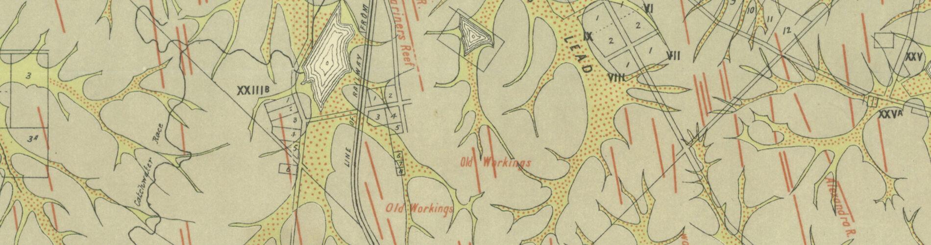 Victorian goldfields map