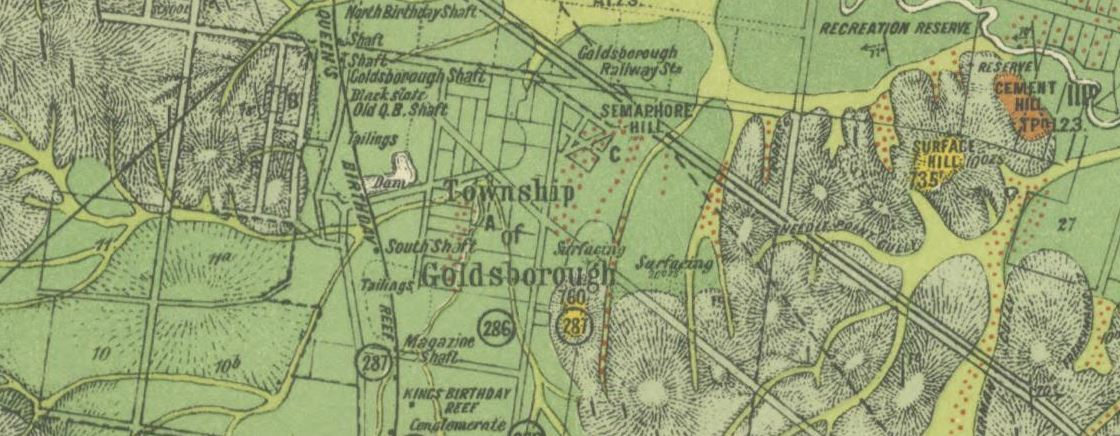 Goldsborough gold map