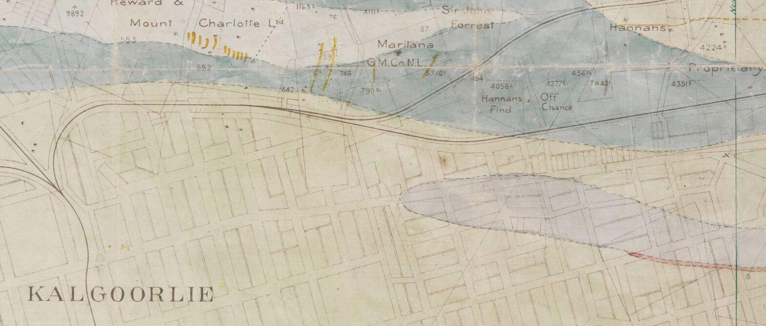 Kalgoorlie gold map