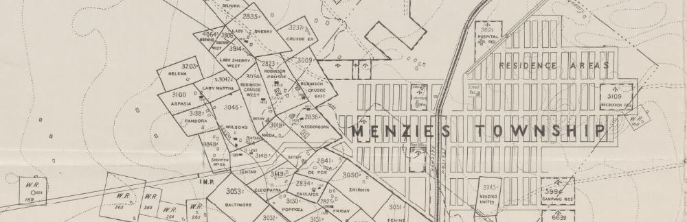 Menzies gold map