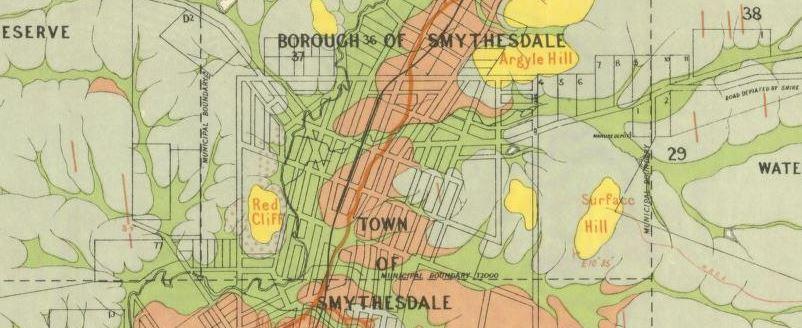 Smythesdale gold map