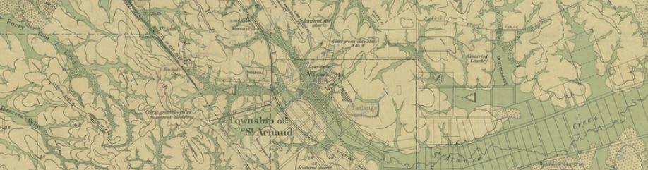 St Arnaud gold map