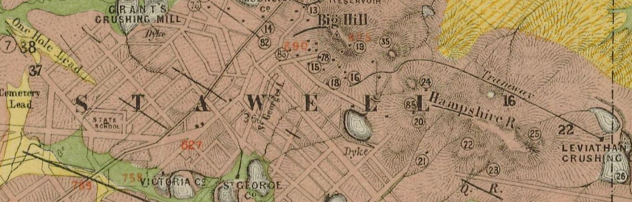 Stawell gold map