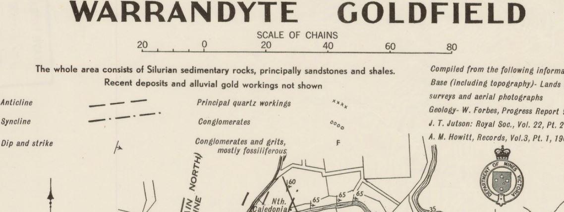 Warrandyte gold map