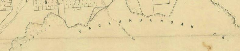 Yackandandah gold map