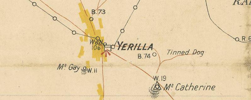Yerilla gold map